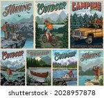 outdoor recreation vintage... | Shutterstock .eps vector #2028957878