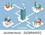 3d isometric flat vector... | Shutterstock .eps vector #2028964052