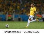 Постер, плакат: Neymar of Brazil kicks