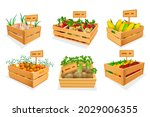 set of fresh vegetables at... | Shutterstock .eps vector #2029006355