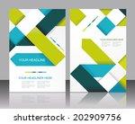 vector brochure template design ... | Shutterstock .eps vector #202909756