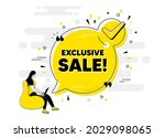 exclusive sale text. check mark ... | Shutterstock .eps vector #2029098065