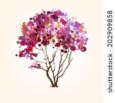 spring vector tree of blots... | Shutterstock .eps vector #202909858