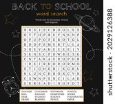 back to school word search...   Shutterstock .eps vector #2029126388