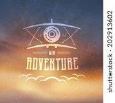 Air Adventure Retro Style Badg...