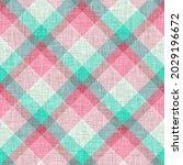 woven argyle plaid background... | Shutterstock . vector #2029196672