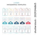 three infographic templates...   Shutterstock .eps vector #2029246865