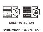data protection icon. vector... | Shutterstock .eps vector #2029263122