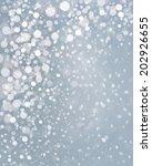 vector snowfall background. | Shutterstock .eps vector #202926655