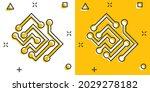 circuit board icon in comic...   Shutterstock .eps vector #2029278182