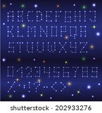 star alphabet with numbers and... | Shutterstock .eps vector #202933276