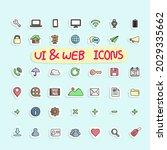 sticker design icon set of ui...