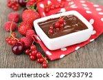 Ripe Sweet Berries And Liquid...