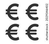 euro icon. euro money cash... | Shutterstock .eps vector #2029346402