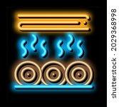 wood trunk drying neon light... | Shutterstock .eps vector #2029368998