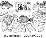 fish and chips sketch vector...   Shutterstock .eps vector #2029397228