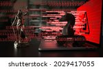 legal consequences of a hack...   Shutterstock . vector #2029417055