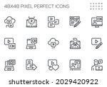 set of vector line icons... | Shutterstock .eps vector #2029420922