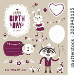 set of sticker  gift tag with... | Shutterstock .eps vector #202943125