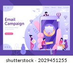 email campaign web banner with...