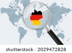 world map with a magnifying...   Shutterstock .eps vector #2029472828