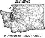 net irregular mesh washington...   Shutterstock .eps vector #2029472882