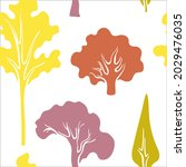 seamless pattern with autumn... | Shutterstock .eps vector #2029476035