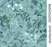 summer motif with mixture of...   Shutterstock . vector #2029524098