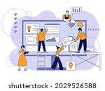 web app developers. development ... | Shutterstock .eps vector #2029526588