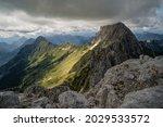 Panorama View Of Mountain Peaks ...
