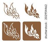 complementary line thai art... | Shutterstock .eps vector #202954462