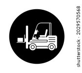 forklift icon. simple icon.... | Shutterstock .eps vector #2029570568