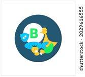 vitamin b source flat icon...
