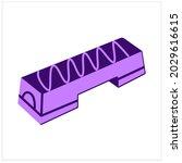 aerobic stepper flat icon....