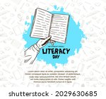 international literacy day with ... | Shutterstock .eps vector #2029630685