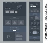 website wireframe landing page. ...