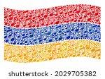 mosaic waving armenia flag... | Shutterstock .eps vector #2029705382