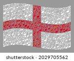 mosaic waving england flag... | Shutterstock .eps vector #2029705562