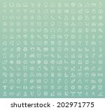 set of 225 minimal modern white ... | Shutterstock .eps vector #202971775