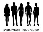 vector silhouettes of  men and...   Shutterstock .eps vector #2029732235