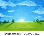 green field | Shutterstock .eps vector #202978162