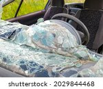 A Closeup Shot Of A Car With A...