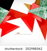 semicircle geometric abstract... | Shutterstock . vector #202988362