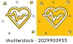 vector cartoon heartbeat line...   Shutterstock .eps vector #2029903955