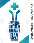 world physical therapy day.... | Shutterstock .eps vector #2029906715