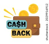 cashback concept.  wallet with... | Shutterstock .eps vector #2029916912
