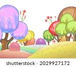 candy background. cartoon sweet ... | Shutterstock .eps vector #2029927172