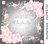 wedding card or invitation with ... | Shutterstock .eps vector #202993732