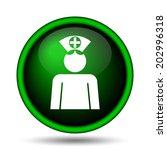 nurse icon. internet button on... | Shutterstock . vector #202996318