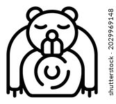 bear icon with outline style....